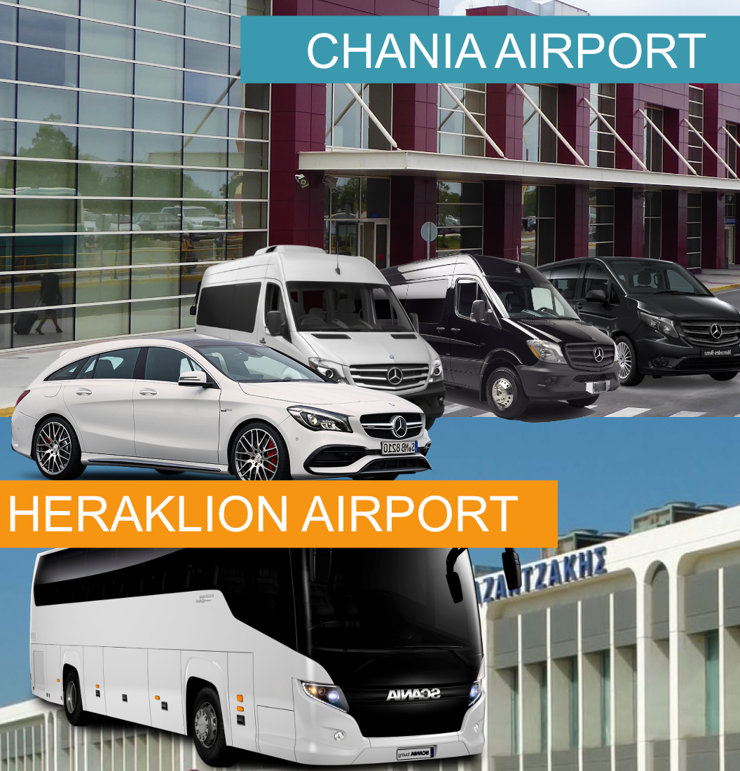 Transfers Chania Airport & Heraklion Airport Booking Transfer
